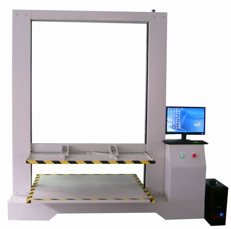 10 Ton Capacity Corrugated Carton Compression Test Equipment Computer Controlled