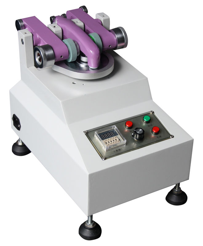 DIN Test Standard TABER Abrasion Tester , Leather Laboratory Equipment